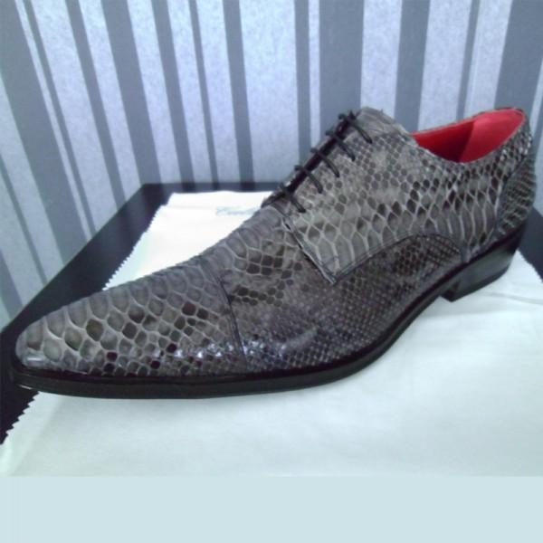 Slangenleer sneakers heren