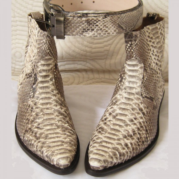 Ambachtelijk slangenleren python laarzen napoli Shoes ook