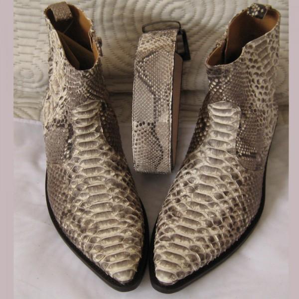 Ambachtelijk Napoli Ook Slangenleren Python Laarzen Shoes dBCxoeWr