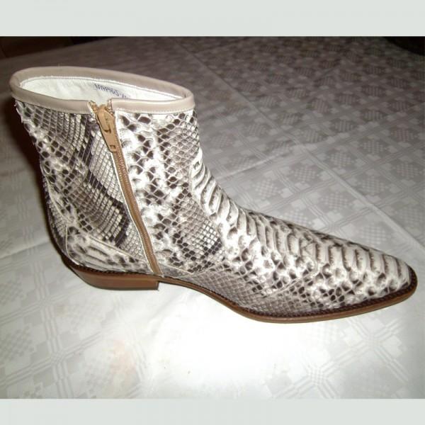 ambachtelijke slangenleren laarzen NapoliShoes Italiaanse