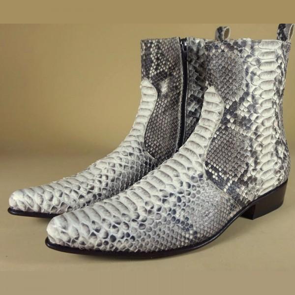 Ambachtelijk slangenleren laarzen roccia napoli Shoes ook